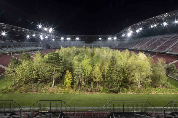 klaus littmann for forest klagenfurt football stadium austria trees