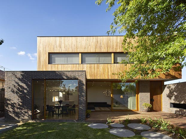 Residential home with external brick cladding