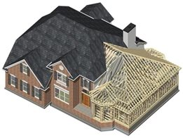 Building design software for steel and timber framed houses from Vertex CAD/PDM Systems