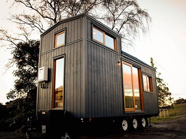 Single Dwelling New Rise of Tiny House Wagonhaus exterior photo