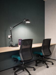 Autex Symphony acoustic wall covering in office interior