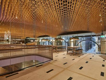 Keystone Lining Pine Dowl Ceiling System for Retail Interior
