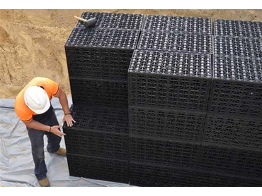 Easy to install stormwater storage and drainage modules