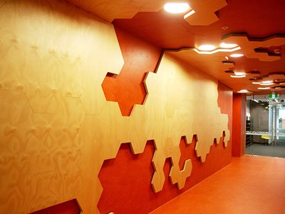 Key Ply Wall Feature Jigsaw Shape Commercial Corridor