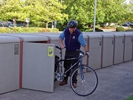 CycleSafe bicycle lockers from Cora Bike Rack