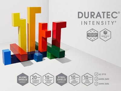 Dulux Duratec Intensity Product Colour Swatches
