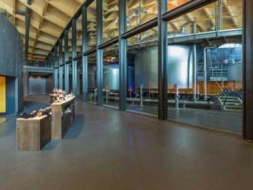 The Macallan's distillery combines industrial and commercial aspects