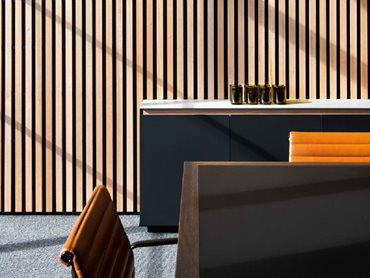 Screenwood panels increase acoustic comfort in interior spaces