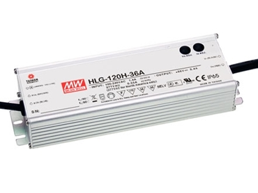 Mean Well HLG-120H Constant Voltage IP67 LED Driver with built-in dimming