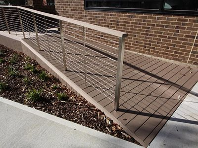 Futurewood CleverDeck Solid Composite Timber Ramp