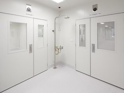 Askin insulated doors in lab