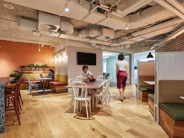 Plank Floors' engineered timber was used in both floor and wall applications