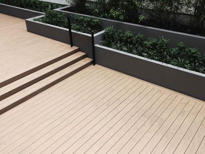 Outdoor composite decking system