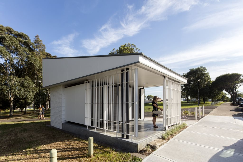 public toilet design architecture. SamCrawfordArchitects BrettBoardmanPhotography08 jpg Sydenham Green Amenities by Sam Crawford Architects sets benchmark