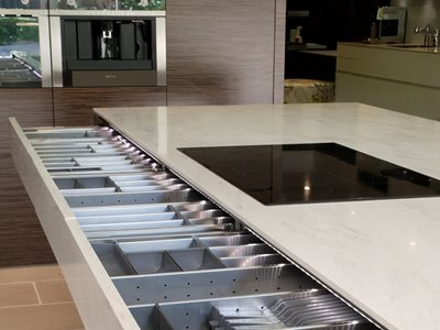 Corian Drawer front by Art of Kitchens