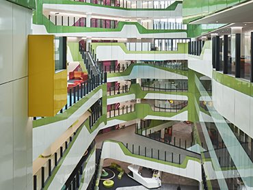 Perth Children's Hospital atrium space featuring Corian design