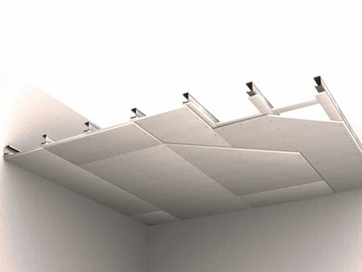 Acoustically tested board system for walls and ceilings