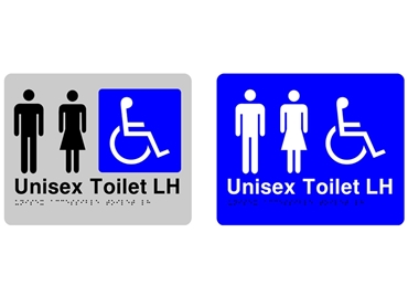 Braille and Tactile Sign - Unisex Accessible Toilet