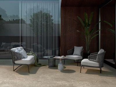 RocksOn Lithos Porcelain Stoneware Outdoor Setting