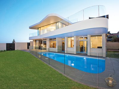 Paragon Residential Curved Exterior Swimming Pool