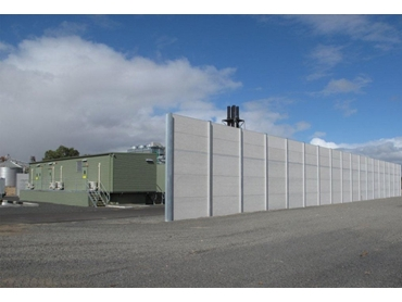 Commercial Modular Noise Barrier Systems from Wallmark