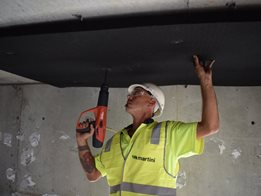 Black acoustic insulation by Bradford Insulation