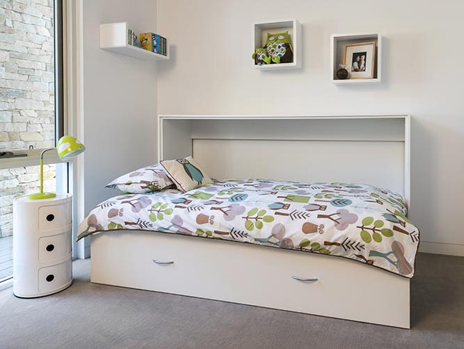 Horizontal single wall bed open sequence