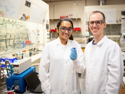 UB researchers Anjula Kosswattaarachchi (left), and Timothy Cook. Credit: Meredith Forrest Kulwicki/University at Buffalo