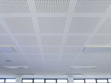 Gyprock Gyptone perforated plasterboard on the ceiling