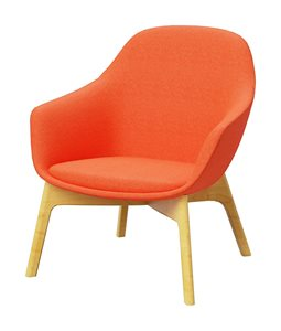 Arena Lounge timber legs seating orange