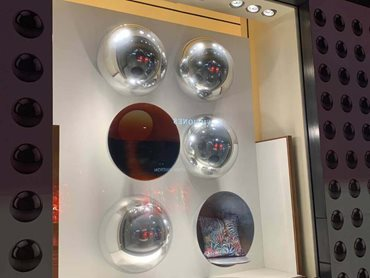 Acrylic mirror domes can be used in architectural design, home decoration and visual merchandising