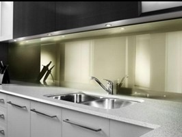 Zenolite® Olive used in kitchen splash back