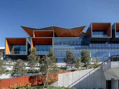 Prodema Natural Wood Cladding ICC Sydney Façade