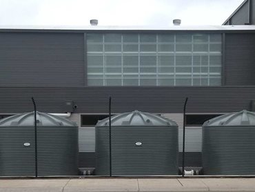 18 rainwater tanks were supplied by Polymaster