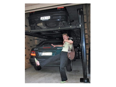 Car lifts freestanding automotive hoists and vehicle for Residential garage car lift