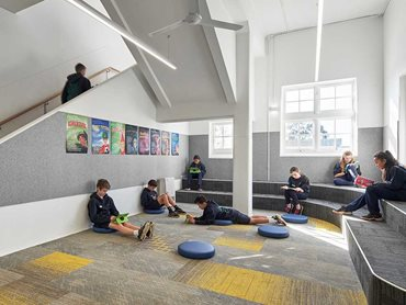 Carpet tiles from Godfrey Hirst's Mohawk Group brand were specified for the learning centre