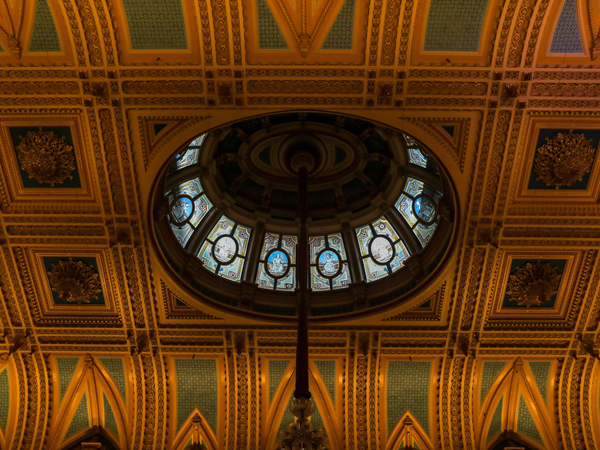 Sydney Town Hall stained glass dome