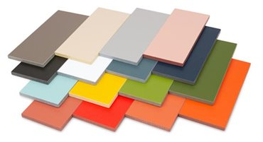 Cemintel cladding range of colour swatches