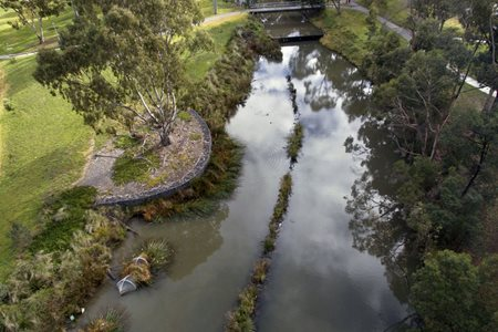 2017 Sustainability Awards, Innovation or Application winner: La Trobe University Integrated Stormwater Management Project by CJ Arms & Associates