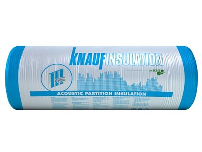 Knauf Insulation non combustible acoustic partition roll product packaging