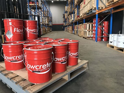 The new Flowcrete warehouse