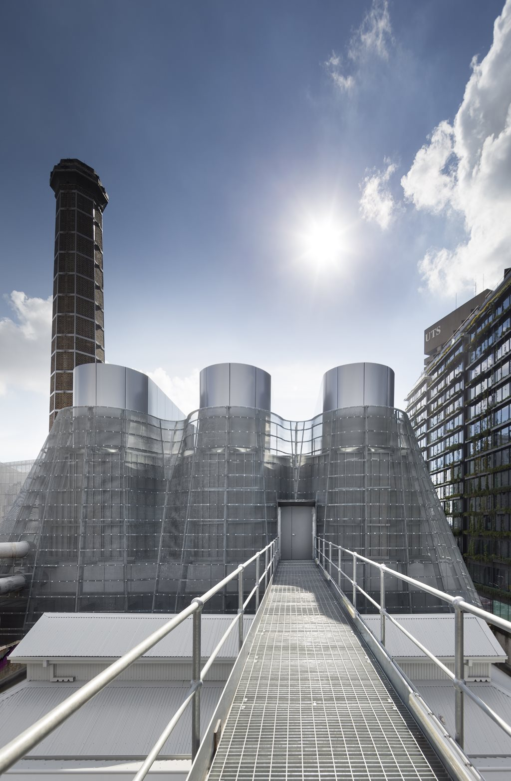 Tzannes Associates Hide Trigeneration Cooling Towers With