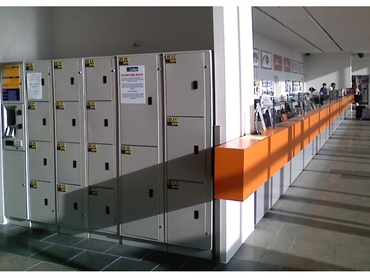 Aussie Lockers used at a bus station