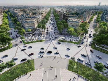 The stretch between Arc de Triomphe and Place de la Concorde will be developed into an 'extraordinary garden'
