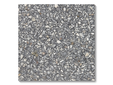 ​Steel Terrazzo Stone Tiles are composed only of natural stone and mineral elements