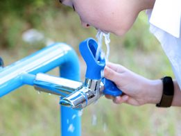 Enware's Blueline™ range combines a bubbler and bottle filler in one