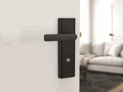 Lockwood matt finish door handle insitu