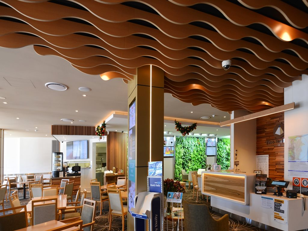 WAVE BLADES: Sculptured features for walls and ceilings