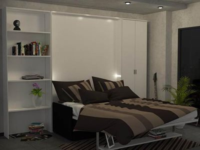 Lounge room interior dile slim night smart bed