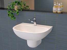 Care 600 Wall Basin: Designed for hospital and health